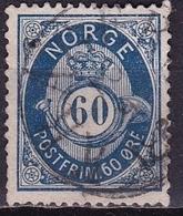 Norway 1893 POSTFRIM 60Ore Darkblue 14½ : 13½ Michel 61 A - Noorwegen