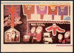 C7058 - TOP Glückwunschkarte Weihnachten Klappkarte - Krippe Weihnachtskrippe - Papua Neuguinea - Natale