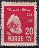 Norway 1928 Henrik Ibsen 20 O Carmine Michel 139 MH - Ongebruikt