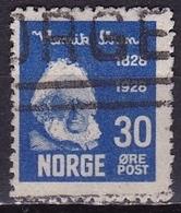Norway 1928 Henrik Ibsen 30 O Blue Michel 140 - Gebruikt
