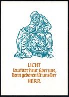 C7061 - TOP Johann Hohmann Glückwunschkarte Weihnachten - Krippe Weihnachtskrippe - Madalenen Verlag - Künstlerkarte - Natale