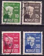 Norway 1932 Bjornstjerne Bjornson Complet Used Set Michel 163 / 166 - Gebruikt