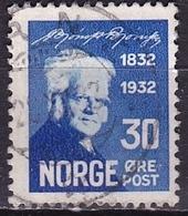 Norway 1932 Bjornstjerne Bjornson 30 O Blue Michel 166 - Gebruikt
