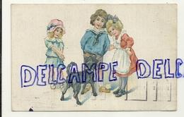 Trois Enfants Et Un Chien. Signée ZIM. 1921 - Illustrateurs & Photographes