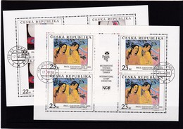 (K 4435d) Tschechische Republik, KB 190/91, Gest. - Blocks & Kleinbögen