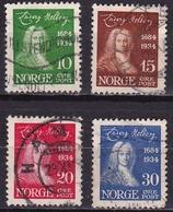 Norway 1932 Ludvig Holberg Complete Used Set Michel 168 / 171 - Gebruikt