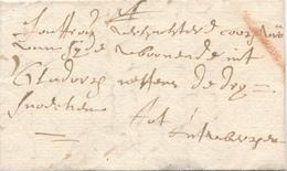 740/29 - Lettre Précurseur 1708 BRUSSEL Vers ANTWERPEN - Marque Oblique à La Craie ( Transport Par Messager ) - 1621-1713 (Países Bajos Españoles)