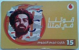 """EGYPT - Egyptian Football Star """"Mohamed Salah"""" 15 L.E, Vodafone , [used] (Egypte) (Egitto) (Ägypten) (Egipto) (Egypten) - Egypte"""