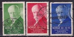 Norway 1935 Friedjof Nansen Funds For Refugees 3 Values From The Set Michel 172-174-175 - Gebruikt