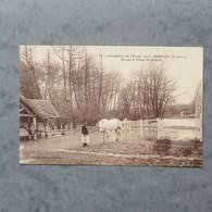 CPA-91-BRUNOY-Inondations De L'Yerres 1910-Devant La Ferme De Soulins - Brunoy