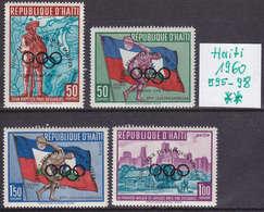 HAITI [1960] MiNr 0595-98 ( **/mnh ) Überdruck Olympiade - Haiti