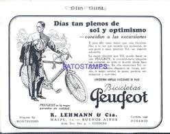 117784 PUBLICITY CYCLING BIKE BICICLETAS PEUGEOT IN ARGENTINA CORDOBA NO POSTAL POSTCARD - Cartoline