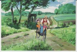 Postcard - Studio Ghibli - My Neighbor Totoro - Three On My Bike - New - Unclassified