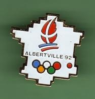 JO ALBERTVILLE 92 *** CARTE DE FRANCE *** 1037 (80) - Jeux Olympiques