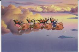 Postcard - Studio Ghibli - Castle In The Sky - On The Sky Train  - New - Unclassified