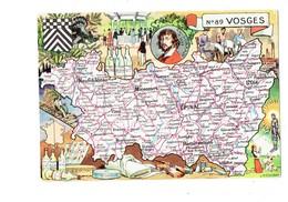 Cpm Illustration Pinchon 88 VOSGES Jeanne D'Arc Violon Fil Fromage Gerome Bouteille Vittel Kirsch Eau De Vie Parapluie - France