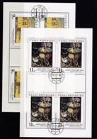 (K 4436e) Tschechische Republik, KB 130/31, Gest. - Blocks & Sheetlets
