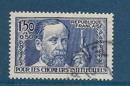 Timbre Oblitéré France, N°333 Yt, Surtaxe, Chômeurs Intellectuels, Louis Pasteur - Oblitérés