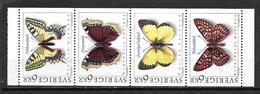 Suède 1993 N°1759/1762 Neufs Papillons - Suède