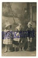 Photographie. Trois Enfants, Accordéon, Chien. 1911 - Taferelen En Landschappen