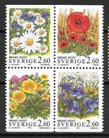 Suède 1993 N°1763/1766 Neufs Fleurs Des Champs - Suecia