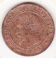 1 Centime 1855 MA Marseille, Chien. Napoléon III - Francia