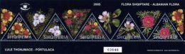 Albania Stamps 2005. Albanian Flora, Portulaca. Set Sheet MNH - Albania