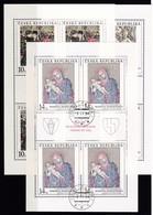 (K 4437c) Tschechische Republik, KB 56/58, Gest. - Blocks & Kleinbögen