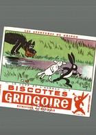 BUVARD BISOTTE GRINGOIRE LE LOUP ET L'AGNEAU SIGNE COQ - Biscottes