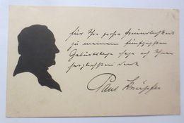 Scherenschnitt, Männer, 1900 ♥ (52969) - Künstlerkarten