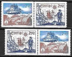 Suède 1993 N°1779/1780 Neufs En Paires Service Hydaugraphique - Sweden