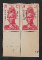 "CAMEROUN 1940 YT 213** - VARIÉTÉ ""4"" FERMÉ - Cameroun (1915-1959)"