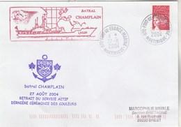 Retrait Du Service Actif  Batral CHAMPLAIN Fort De France Marine 27/8/2004 - Naval Post