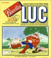 BUVARD BISCOTTE LUC LE PETIT POUCET - Biscottes