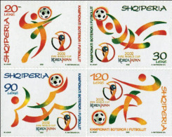 Albania Stamps 2002. WORLD FOOTBALL CHAMPIONSHIP, SOCCER SPORT CUP, FIFA. Japan And South Korea. Set MNH. Mi 2879/82 - Albania