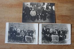3 Cartes Photos  54 Eme Regiment D'artillerie  Fort De La Vitriolerie Lyon Guerre 1914 1916 - 1914-18