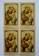 4 IMAGES RELIGIEUSES IDENTIQUES - SAINT-ANTOINE DE PADOUE-  Au Verso : BON-POINT SALVY Farine Lactée - Imágenes Religiosas