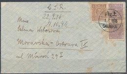 CHINA - 1946 Cover To MORAVSKÁ OSTRAVA (Tchecoslovaqiue), With Mi 608, 2x 609 - China