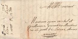 765/29 - Lettre Précurseur 1716 BRUSSEL Vers ANTWERPEN - Marque 1 Stuiver à La Craie (transport Par Messager) - 1714-1794 (Austrian Netherlands)