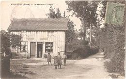 """Dépt 27 - VALLETOT - La Maison CORNET - (épicerie) - Cachet """"CARILLON De CORNEVILLE"""" - France"""