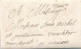 766/29 - Lettre Précurseur 1716 DINANT Vers ANTWERPEN - Manuscrit De Namur - Marque 4 Stuivers à L'encre - 1714-1794 (Austrian Netherlands)