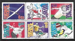 Suède 1993 N°1743/1748 Neufs Sports - Suecia