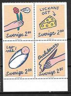 Suède 1992 N°1708/1711 Neufs Félicitations Et Voeux - Sweden