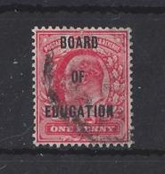 """GB....KING EDWARD VII...(1901-10).. """" OFFICIAL """"...1d....SG084......(CAT £40.)....USED. - Servizio"""