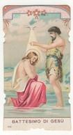 Santino Antico Fustellato Battesimo Di Gesù Natale Salvardi Editore 172 - Religion & Esotérisme