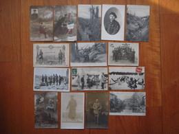 Lot 15 Cartes Postales/cartes Photos Militaires WW1 Divers   !!!! - Guerre 1914-18