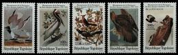 Togo 1985 - Mi-Nr. 1882-1886 ** - MNH - Vögel / Birds - Audubon - Togo (1960-...)