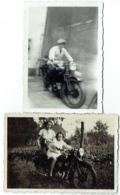Foto/Photo. Moto, Motard. Lot De 2 Photos. - Automobili