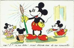 Illustrateur. Walt Disney. Mickey Mouse Et T.S.F. 1939. - Non Classés