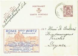 Publibel. Wirtz. Rome 1950. - Entiers Postaux